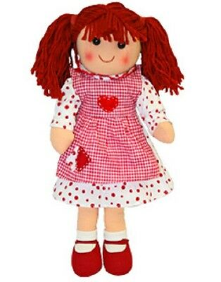 New Childs Toy Rag doll woollen hair soft body & outfit ragdoll dolly - Ruby