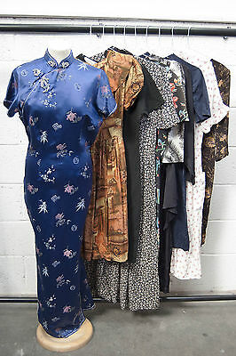 Job Lot Of 10 Vintage Dresses. Mix Of Colours, Sizes And Styles. #49