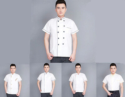 Summer Uniform Restaurant Hotel Working New Short Sleeve Clothes Chef Coat Cook