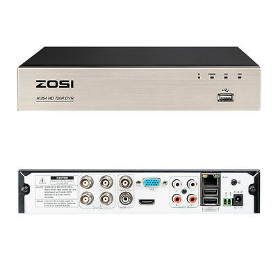 ZOSI 8CH 720P AHD Network CCTV DVR for Security Camera System Free APP Motion