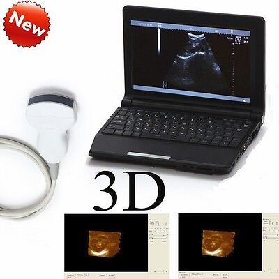 New B ultrasonic Veterinary Laptop Ultrasound Scanner +Convex Transducer Free 3D