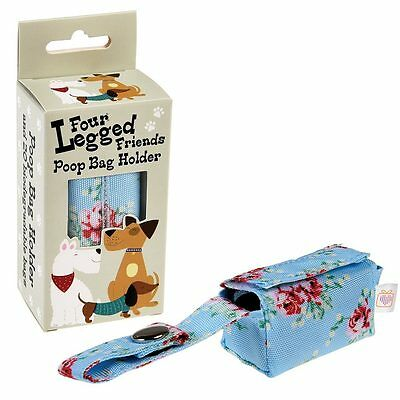dotcomgiftshop ENGLISH ROSE POOP BAG HOLDER
