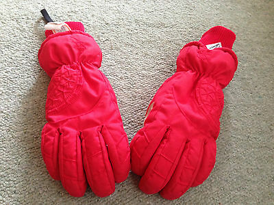 Asp Red Children's/Ladies Extra Small Snow/Ski Gloves