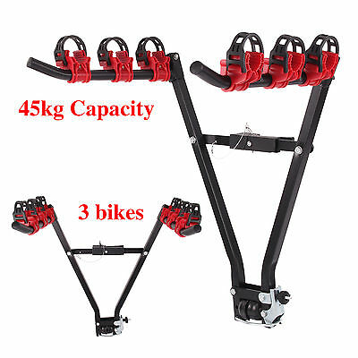 3 Bicycle 4x4 Carrier  Bike Cycle Universal Rack Fits Most Cars Rear Mount