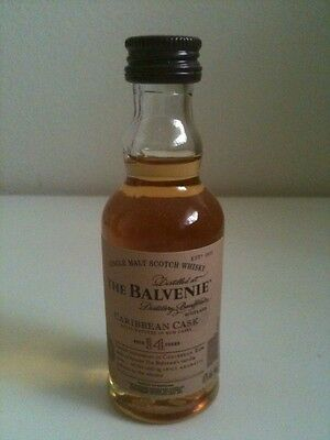 The Balvenie 14 Year Old Single Malt Whisky Caribbean Cask Miniature 50mL