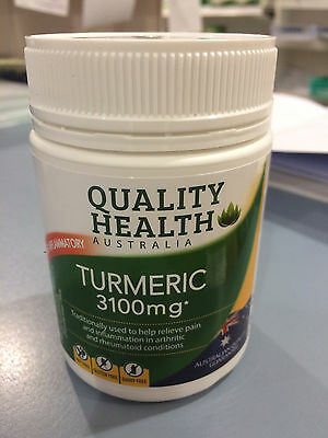 2 x TURMERIC 3100mg HIGH STRENGTH 100 capsules ARTHRITIS JOINTS AUSTRALIAN MADE