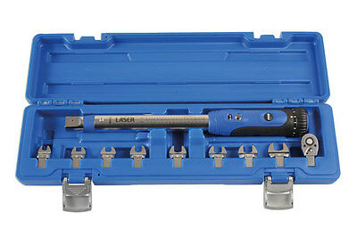 Brand New Torque Wrench 1/4 Drive Tool Kit Crowfoot Spanner Wrench Kit In Case