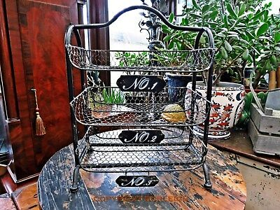 Very Decorative Vintage Style Letter & Magazine Storage Rack. Filing Tray