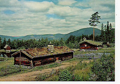 Lovely Clean  Postcard ..norway....typical Outfarm Buildings  ..chalets D Alpage
