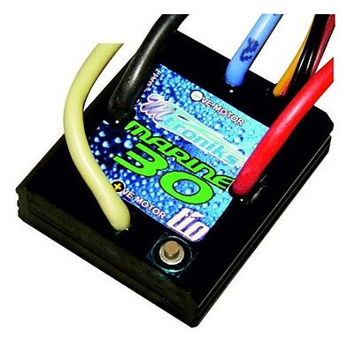 Mtroniks tio MARINE 30 Brushed Electronic Speed Controller for Lipo RC boat