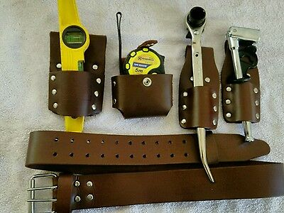 SCAFFOLDING  LEATHER Tool BELT SET WITH QUALITY TOOLS (UK SELLER )