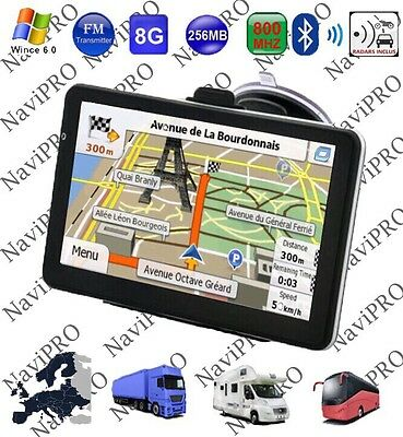 Gps Poids Lourd Camion Camping Car 7 Pouces Hd Europe 2016
