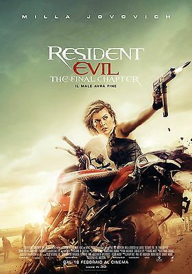 Resident Evil The Final Chapter Movie Poster Milla Jovovich Paul Anderson Rose