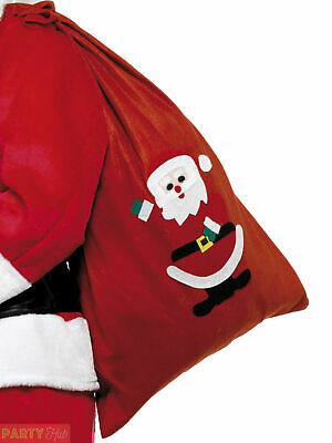 Large Santa Claus Sack Father Christmas Fancy Dress Accessory Gift Presents Bag