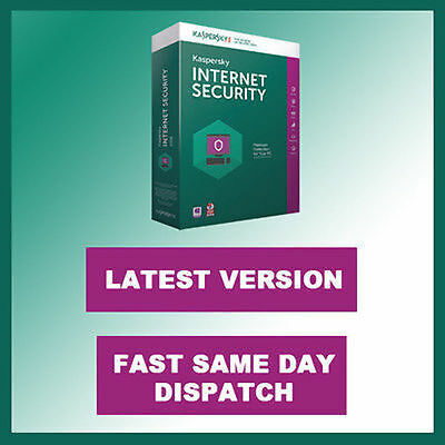 Kaspersky Internet Security 2017 3 PC / 1 Year Genuine License Key FAST DISPATCH