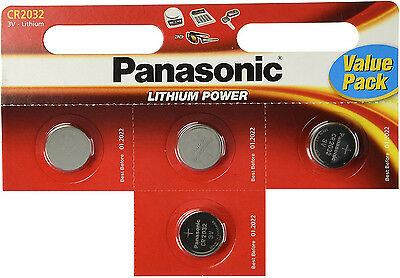 4 x Panasonic CR2025 3V Lithium Coin Cell Battery 2025 Batteries Brand new stock