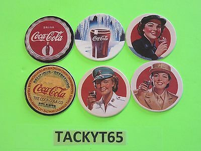1993 Coca Cola Collection Series 2 Coke Caps Lot Of (6)