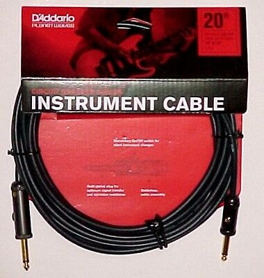 D'Addario Planet Waves PW-AG-20 Circuit Breaker Guitar / Instrument Cable. 20ft.