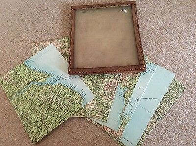 Vintage The Autocar Sectional Road Map of England and Wales 24 Pieces
