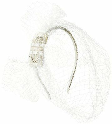 Johnny Loves Rosie Diadema, bianco perla / Net Veil