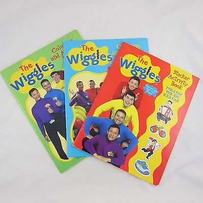 The Wiggles Coloring & Activity Books Lot of 3, One w/ Stickers NEW