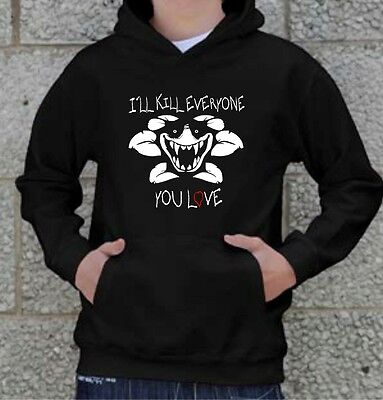 "Kids UNDERTALE Inspired FLOWEY ""I'll Kill Everyone You Love"" HOODIE"
