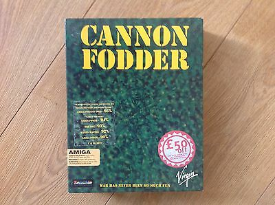 Cannon Fodder by Sensible Software Commodore Amiga Boxed Complete Tested