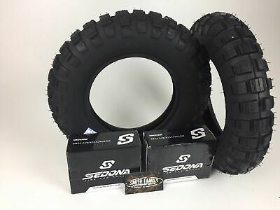 New Pair 2 MASSFX Tires & Free Tubes 3.50-8 SR 421 Front & Rear Honda Z50R Trail