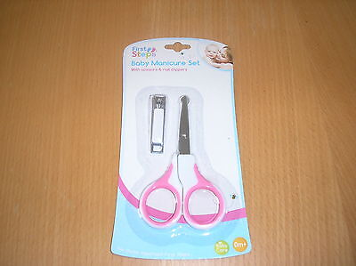 Baby Pink  Manicure Set With Scissors And Clippers- 0 Mths Plus