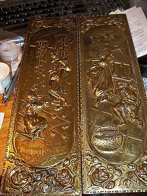 Brass Wall Plaques, Made In England, Set Of 2