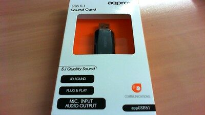 Plug and Play aqprox USB 5.1 Sound Card appUSB51