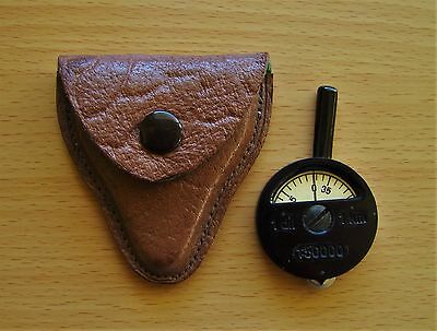 1 X Czechoslovakia Vintage Army Map Distance Meter In Original Leather Case
