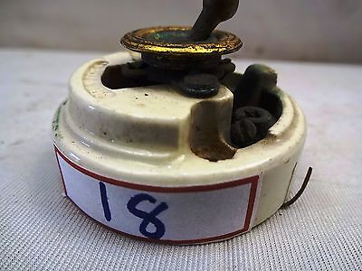 1 Pc Antique Ceramic&Brass Electric Switch Crabtree British Make Collectible #18