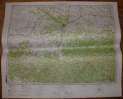 Authentic Soviet Army Military Topographic Map San Angelo, Texas, USA #47