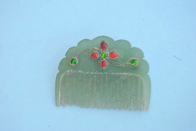 Old Indo Persian Mughal Rajput Ottoman Turkish Qing Chinese India Jade Comb