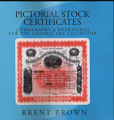 Pictorial Stock Certificates Litho &Engraving Illustrated Book FREE Ship in USA