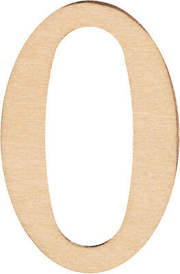Wood Letters & Numbers 1-1/2 Inch 2/Pkg-0 Inch 046308143353