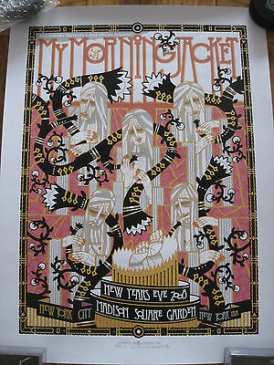 My Morning Jacket Poster Msg Nyc 2008 Guy Burwell Nye New Years Eve Garden