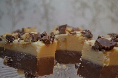 Peanut Butter Milk Chocolate Soft Fudge With Reeses Cups Gluten Free Xmas Gift