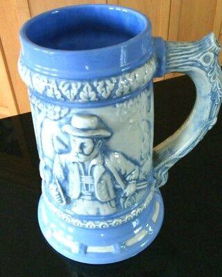 Vintage Hand Crafted Tall Classic German Style Ceramic Beer Stein Collectible