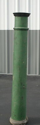 antique shabby painted green tall wooden column architectural plant stand