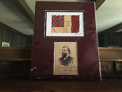 Tom Butler Signed Print Defend Our Homes with James Longstreet Matted NWOT