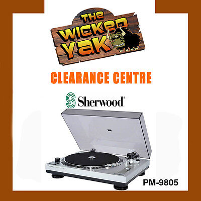 Sherwood PM9805 Manual Belt Drive Turntable with Pitch Control+Cover-BRAND NEW!