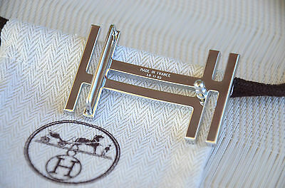 Genuine Hermès belt buckle 32mm H Silver AU CARRE Only Buckle