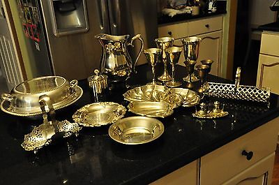 Huge, Beautiful Silver-plated Lot - 21 ps. Absolutely Great condition.