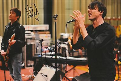 Neil Codling and Brett Anderson Hand Signed 12x8 Photo Suede.