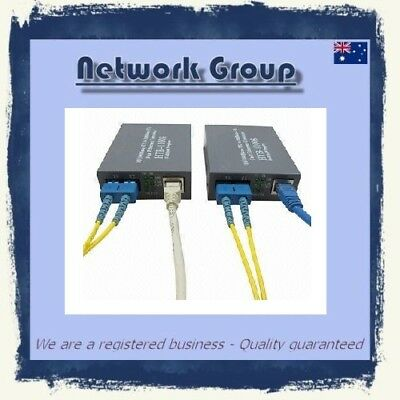 Fiber Optic to RJ45 Ethernet copper fibre media converter Simplex Buy 2 Get 3