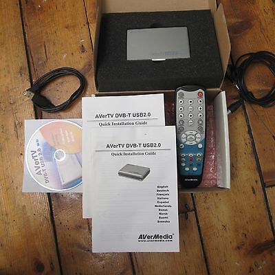 AverMedia AverTV DVB-T USB 2.0 Watch Freeview On Laptop Tested Box Remote Camper