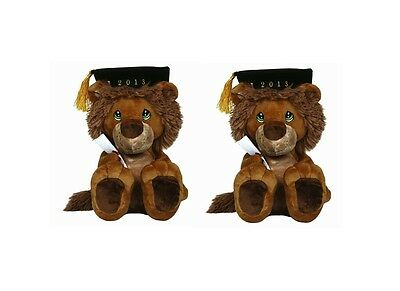 Lot of 2 Precious Moments 2013 Plush Lion Figurine   2X57H