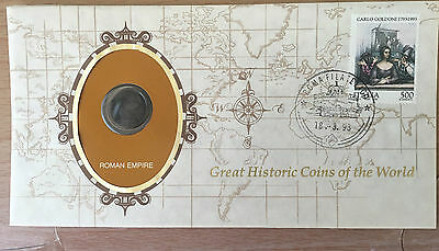 Roman Empire Great Historic Coins of the World Coin & Stamped Cover 1993